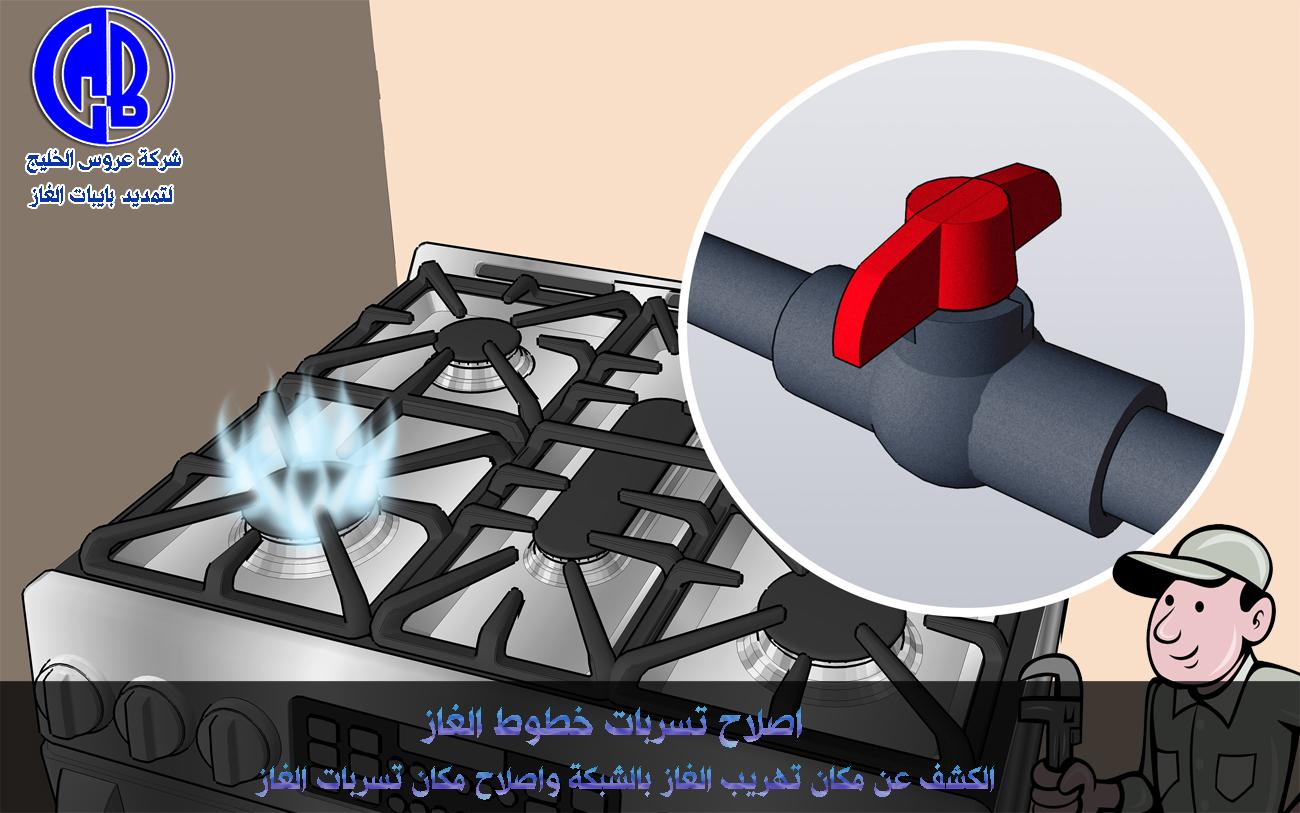 عروس الخليج توصيل بايبات الغاز